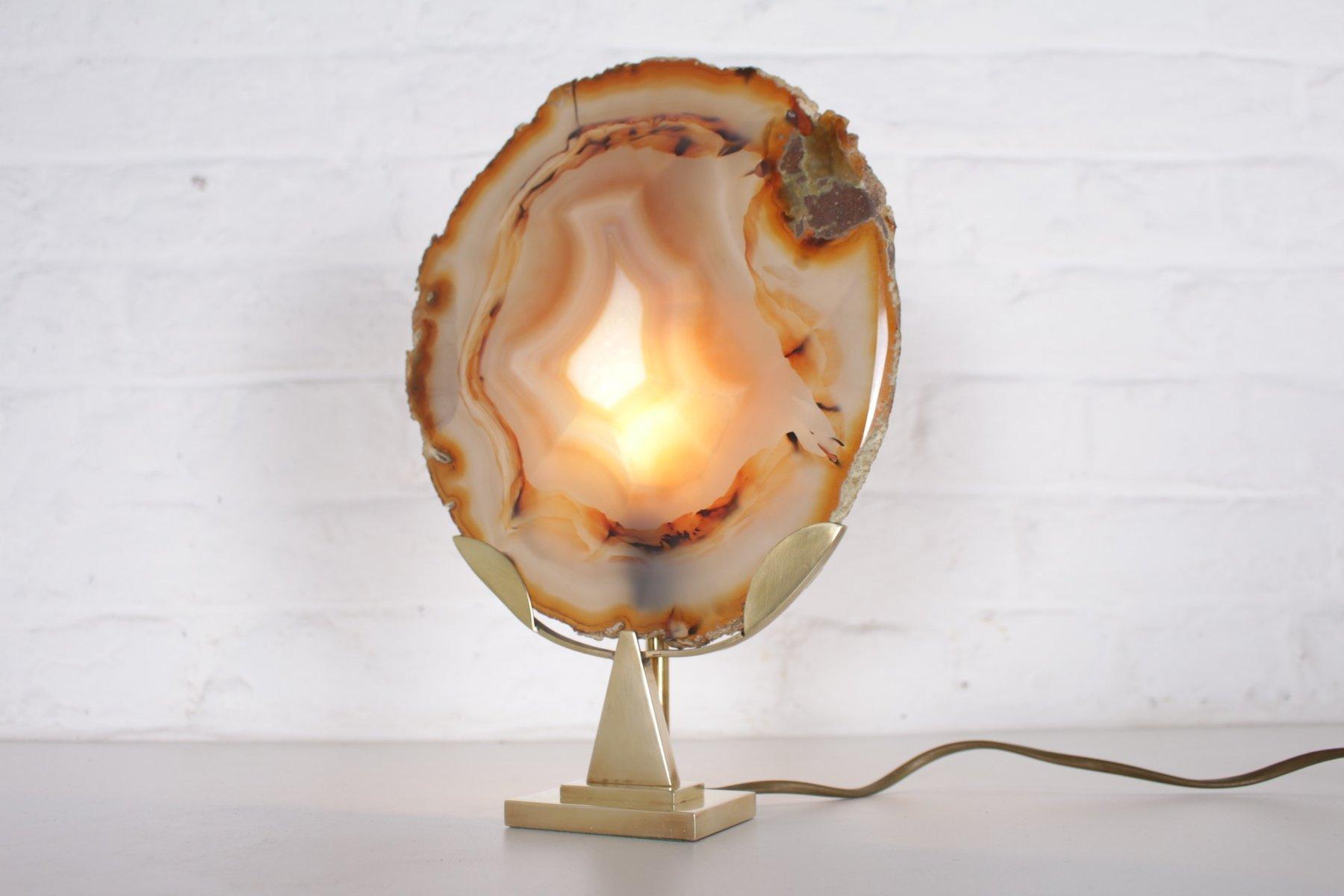 Agate Lampe von Willy Daro, 1970er