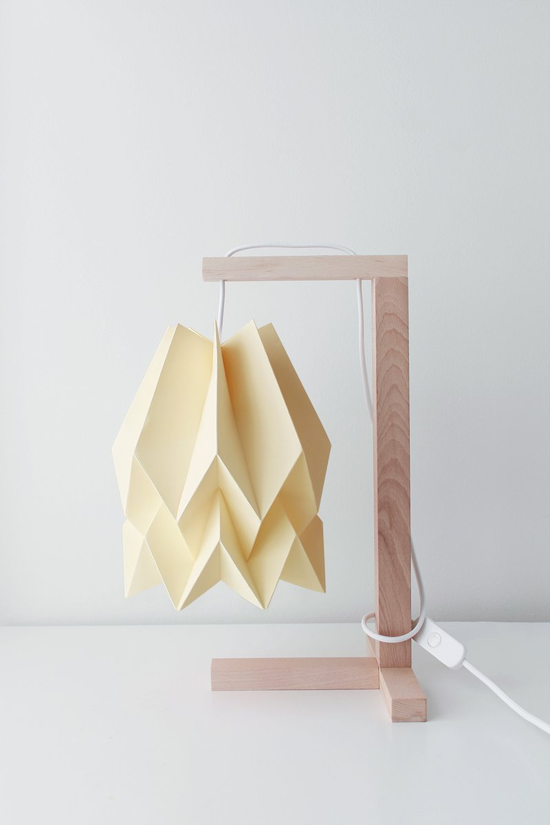 lampe de bureau jaune p le par orikomi en vente sur pamono. Black Bedroom Furniture Sets. Home Design Ideas