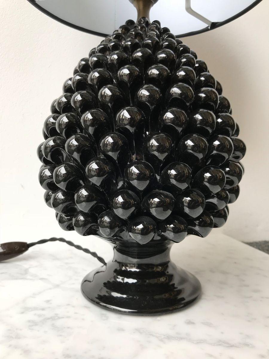 italienische lampen aus kiefer keramik von firlaro 1980er 2er set bei pamono kaufen. Black Bedroom Furniture Sets. Home Design Ideas