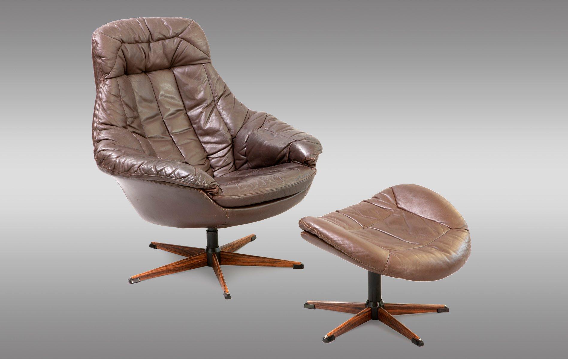 Vintage Sessel und Hocker von Henry Walter Klein, 1970er