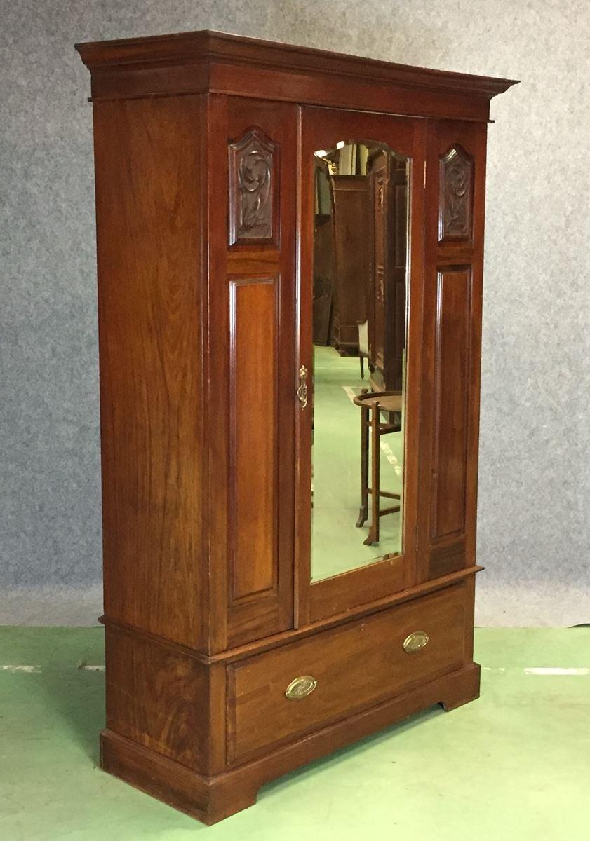 Art Deco Mahogany Wardrobe for sale at Pamono