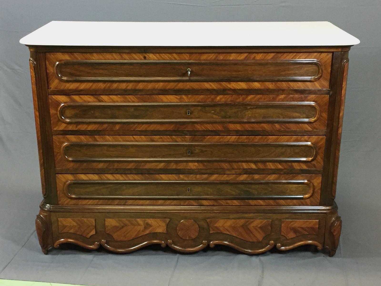 antike napoleon iii palisander kommode bei pamono kaufen. Black Bedroom Furniture Sets. Home Design Ideas