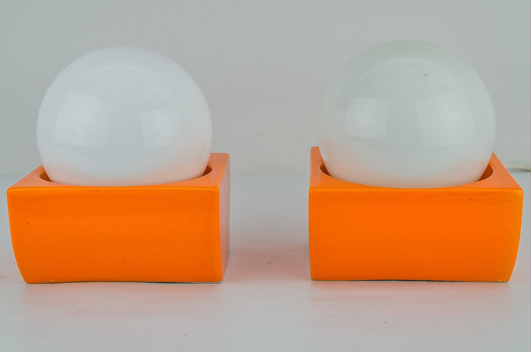 Keramik Decken- oder Wandlampen, 1970er, 2er Set