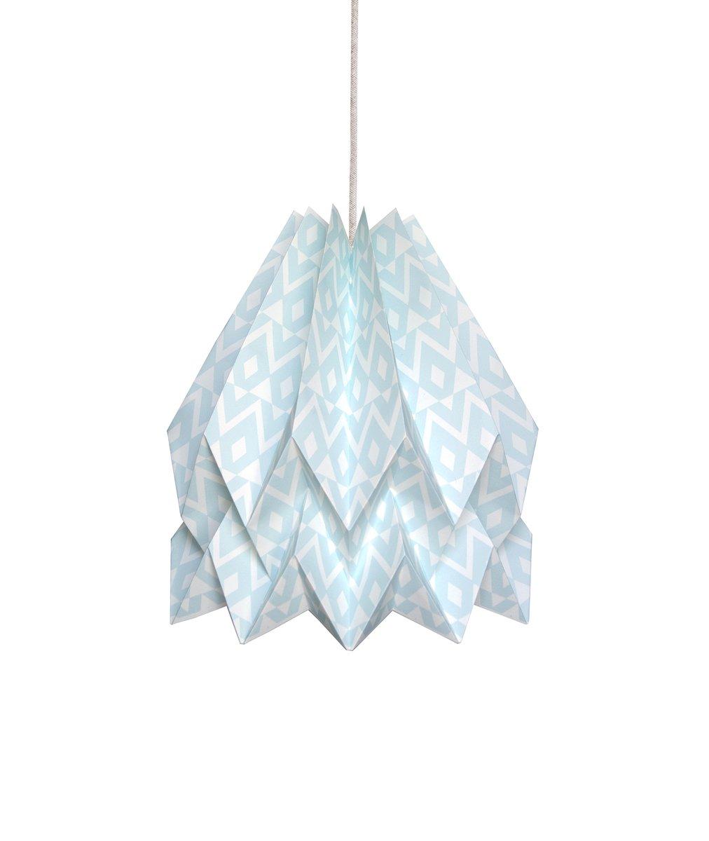 Tupi mintblaue Origami Lampe von Orikomi