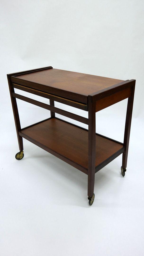 teak servierwagen 1970er bei pamono kaufen. Black Bedroom Furniture Sets. Home Design Ideas