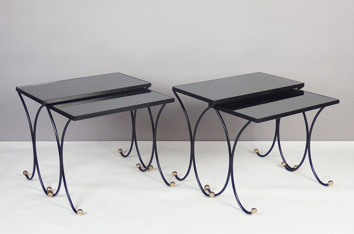 tables gigognes vintage 1950s set de 4 en vente sur pamono. Black Bedroom Furniture Sets. Home Design Ideas