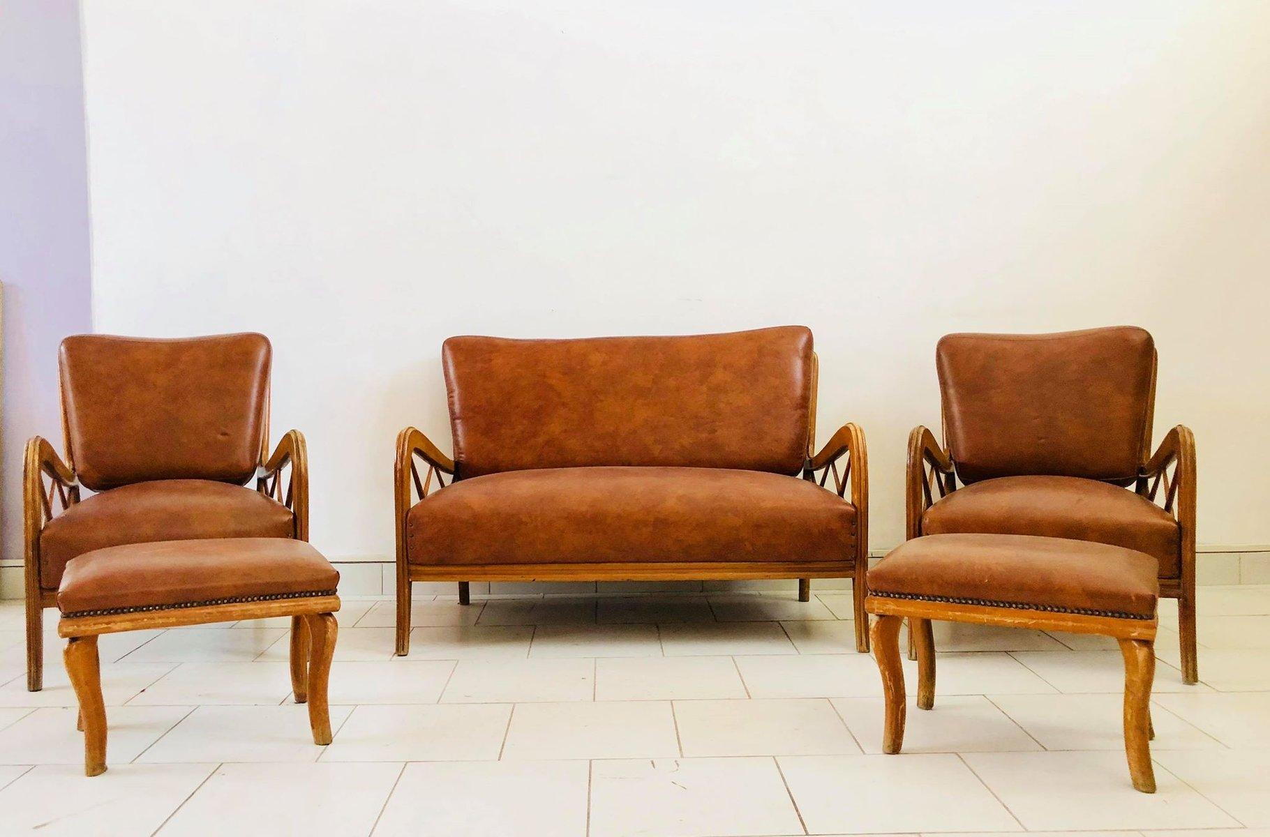 italienisches vintage 2 sitzer sofa von paolo buffa 1950er bei pamono kaufen. Black Bedroom Furniture Sets. Home Design Ideas