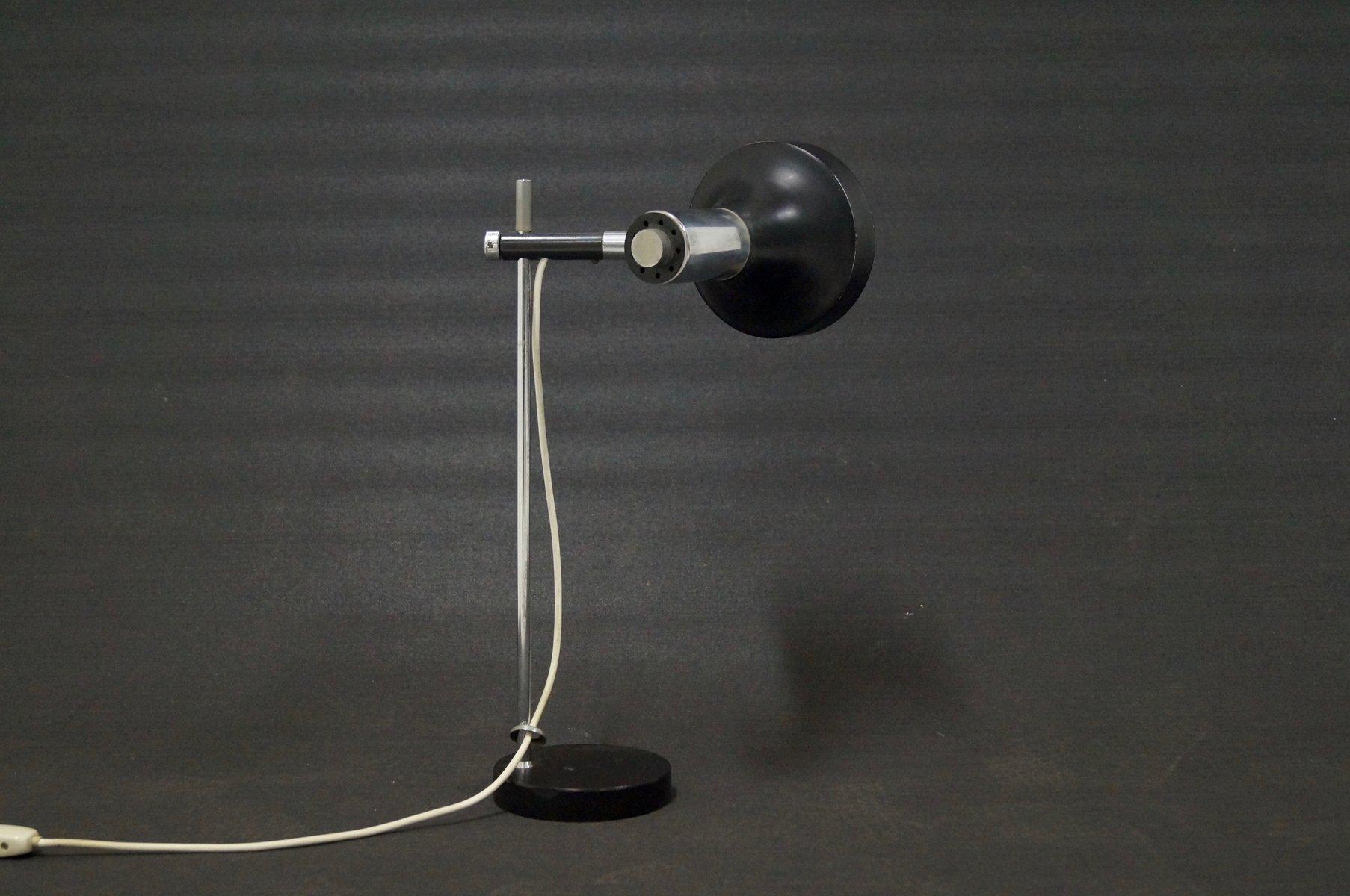 lampe de bureau ajustable industrielle en chrome m tal 1960s en vente sur pamono. Black Bedroom Furniture Sets. Home Design Ideas