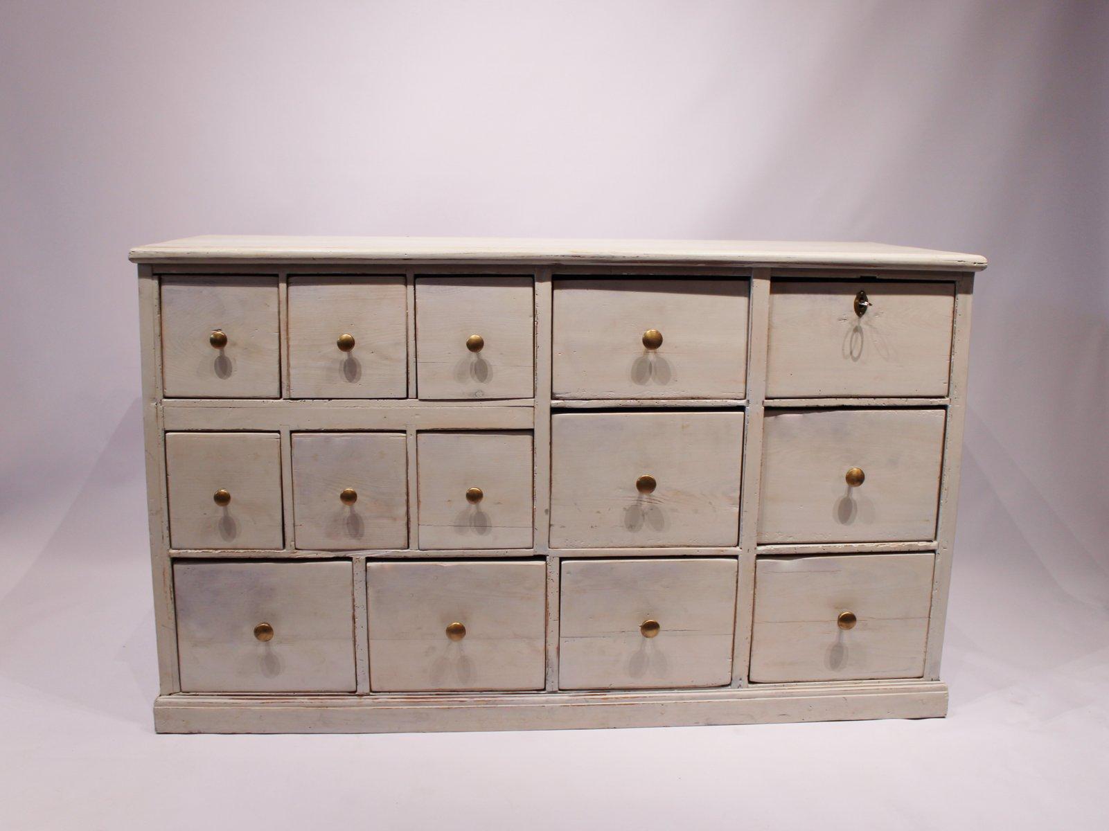Bemalte dänische Vintage Schubladen, 1920er