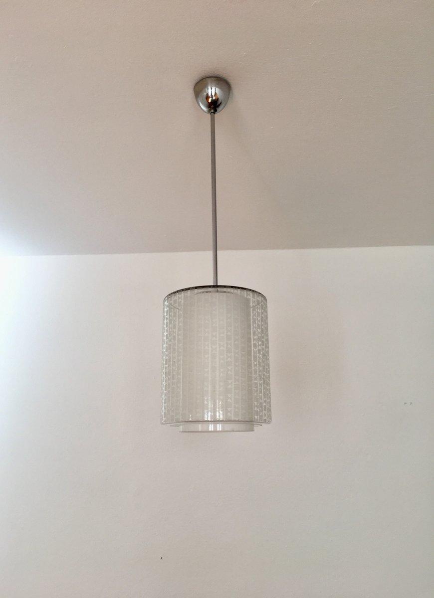 lampe suspension en verre par wilhelm wagenfeld pour peill putzler 1950s en vente sur pamono. Black Bedroom Furniture Sets. Home Design Ideas