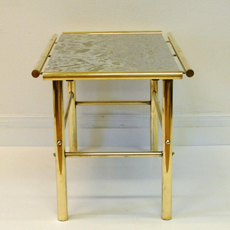 tisch aus marmor messing 1960er bei pamono kaufen. Black Bedroom Furniture Sets. Home Design Ideas
