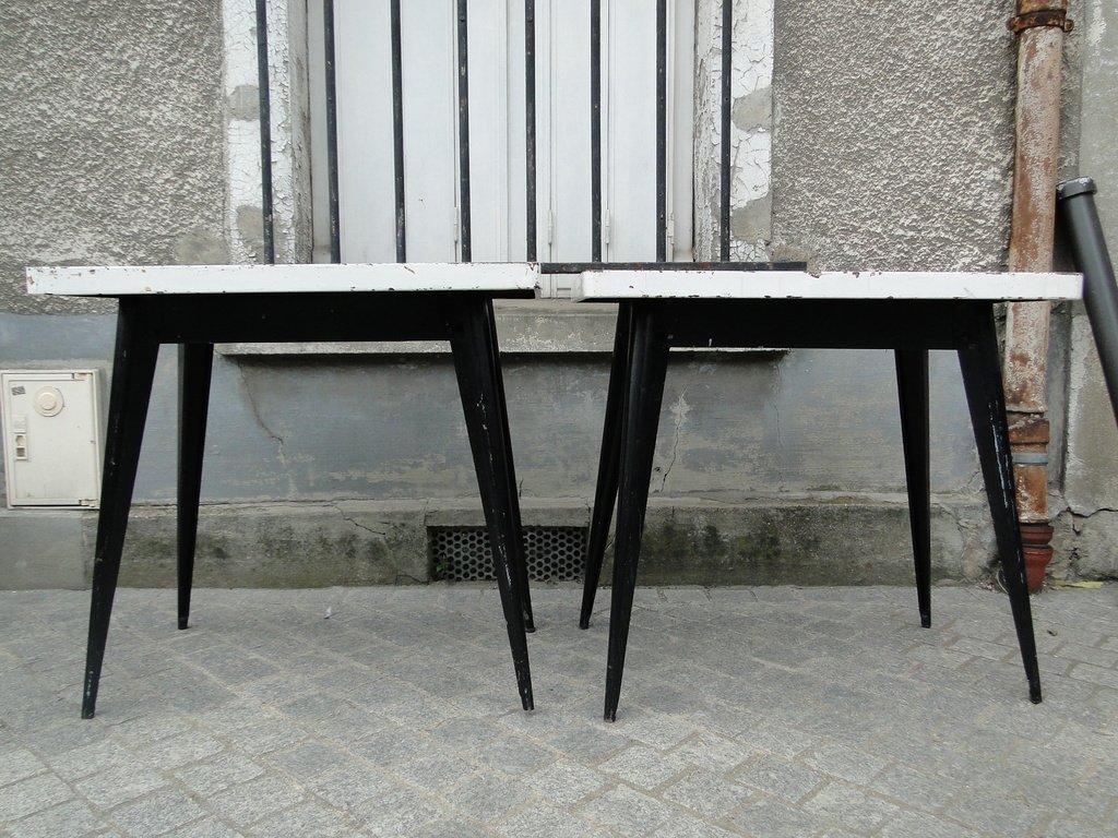 Vintage Bistro Tische von Xavier Pauchard für Tolix, 1940er, 2er Set