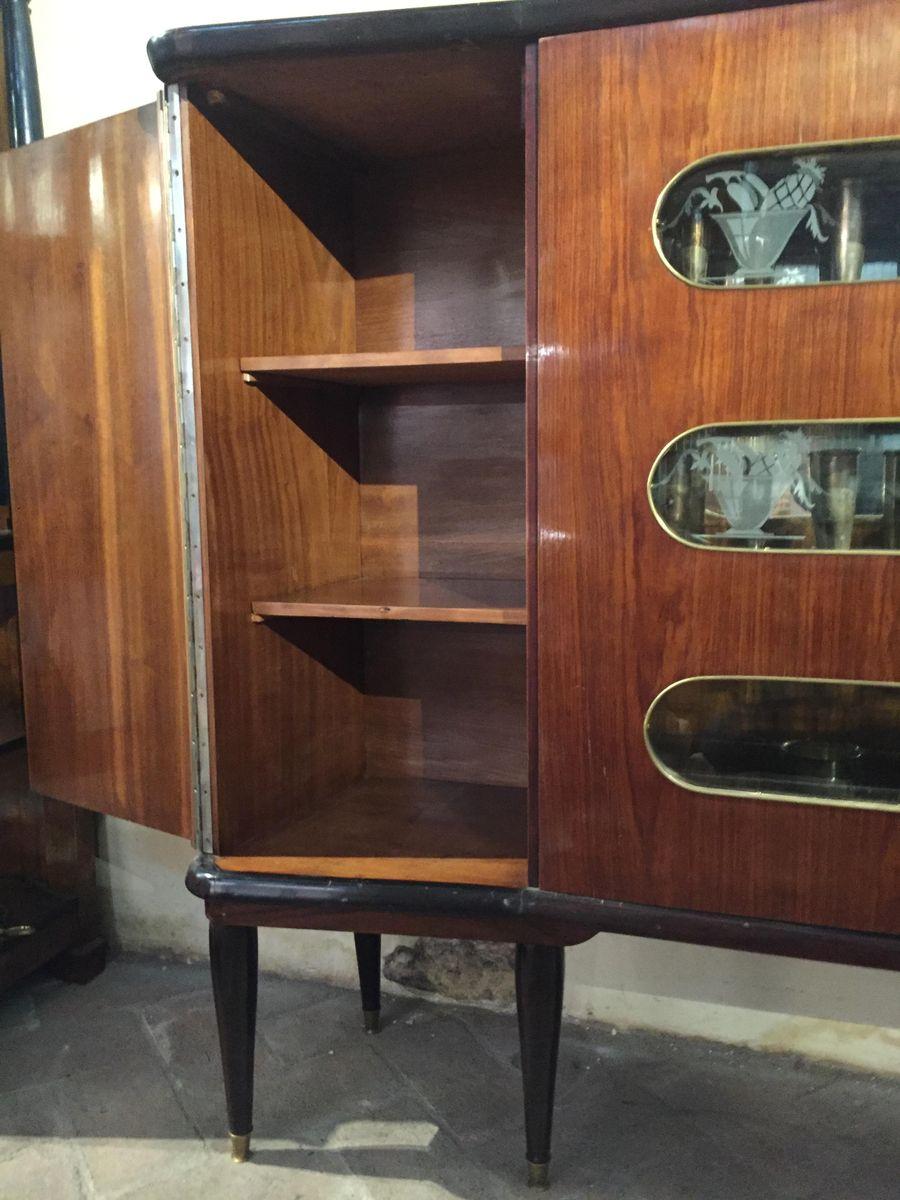 Mobile bar mid century in palissandro italia anni 39 50 in vendita su pamono - Mobile bar anni 50 ...
