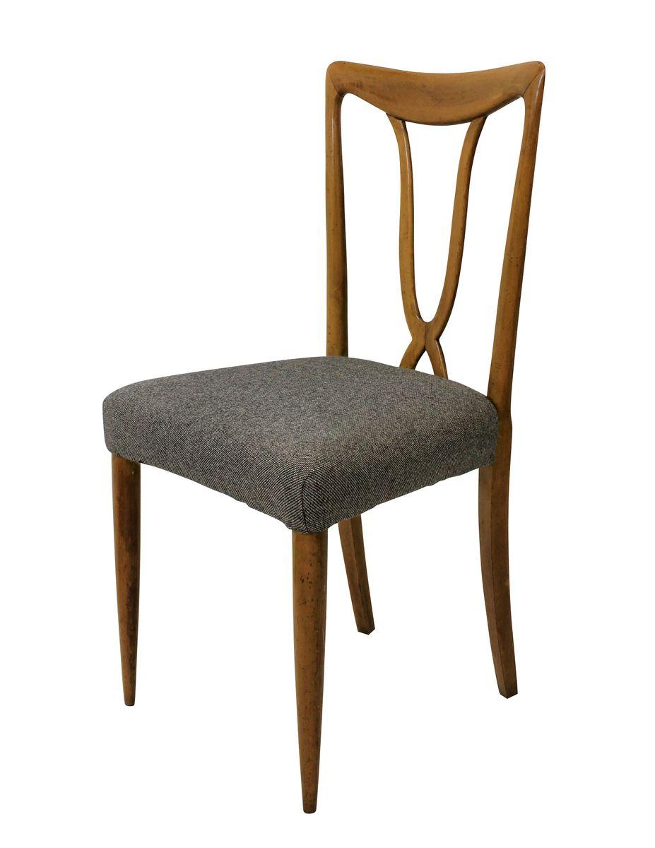italienische st hle 1950er 6er set bei pamono kaufen. Black Bedroom Furniture Sets. Home Design Ideas
