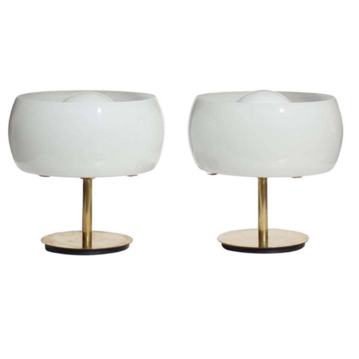 Erse Tischlampen von Vico Magistretti für Artemide, 1960er, 2er Set