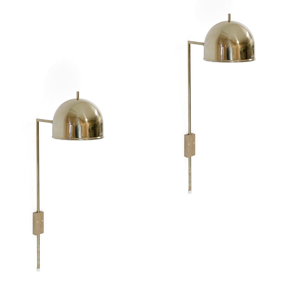 Schwedische Mid-Century Messing Wandlampe von Bergboms, 1960er