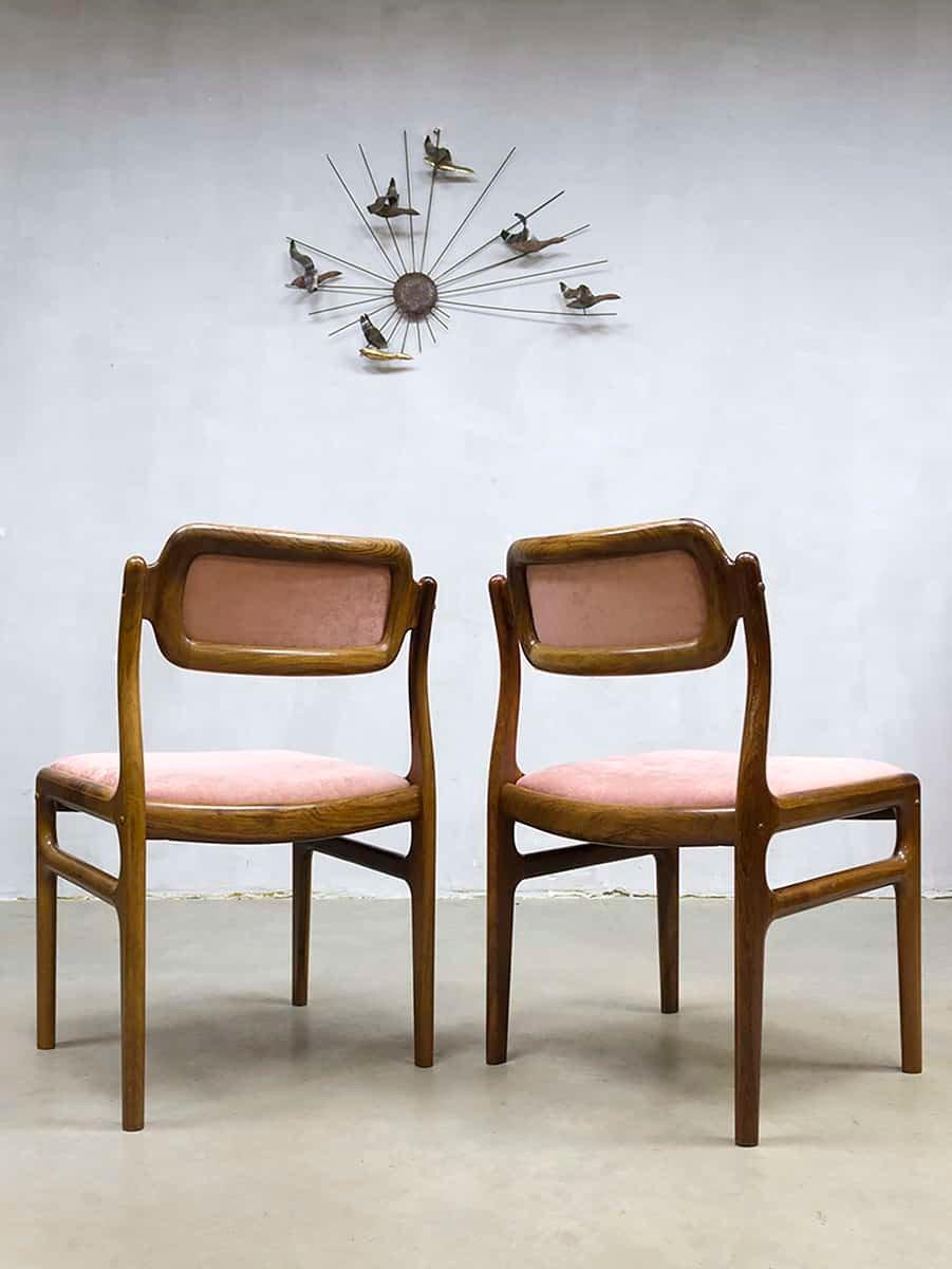 d nische vintage teak esszimmerst hle von johannes andersen f r uldum m belfabrik 4er set bei. Black Bedroom Furniture Sets. Home Design Ideas