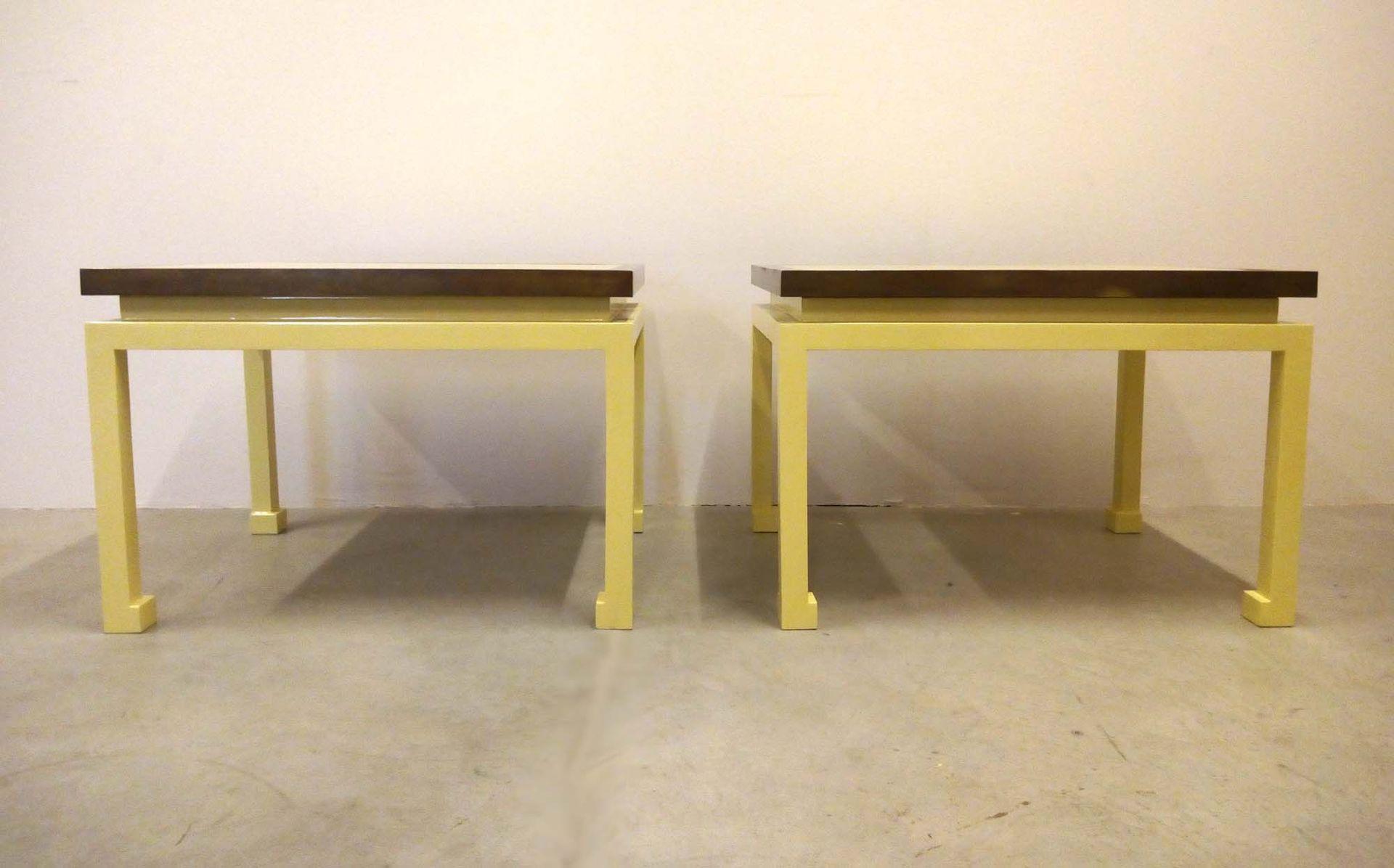 couchtische von maison jansen 1970er 2er set bei pamono kaufen. Black Bedroom Furniture Sets. Home Design Ideas