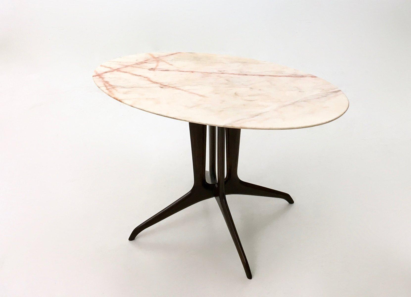 table basse avec plateau de marbre portugais italie 1950s en vente sur pamono. Black Bedroom Furniture Sets. Home Design Ideas