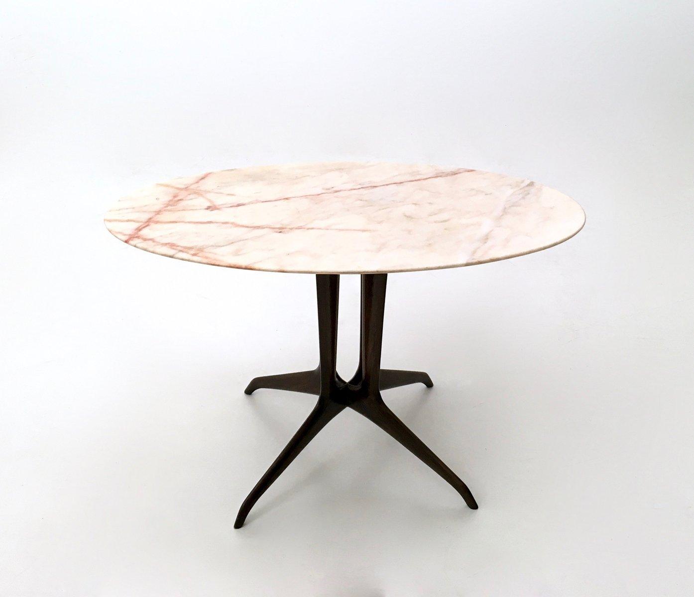 Table Basse Avec Plateau De Marbre Portugais Italie 1950s En Vente