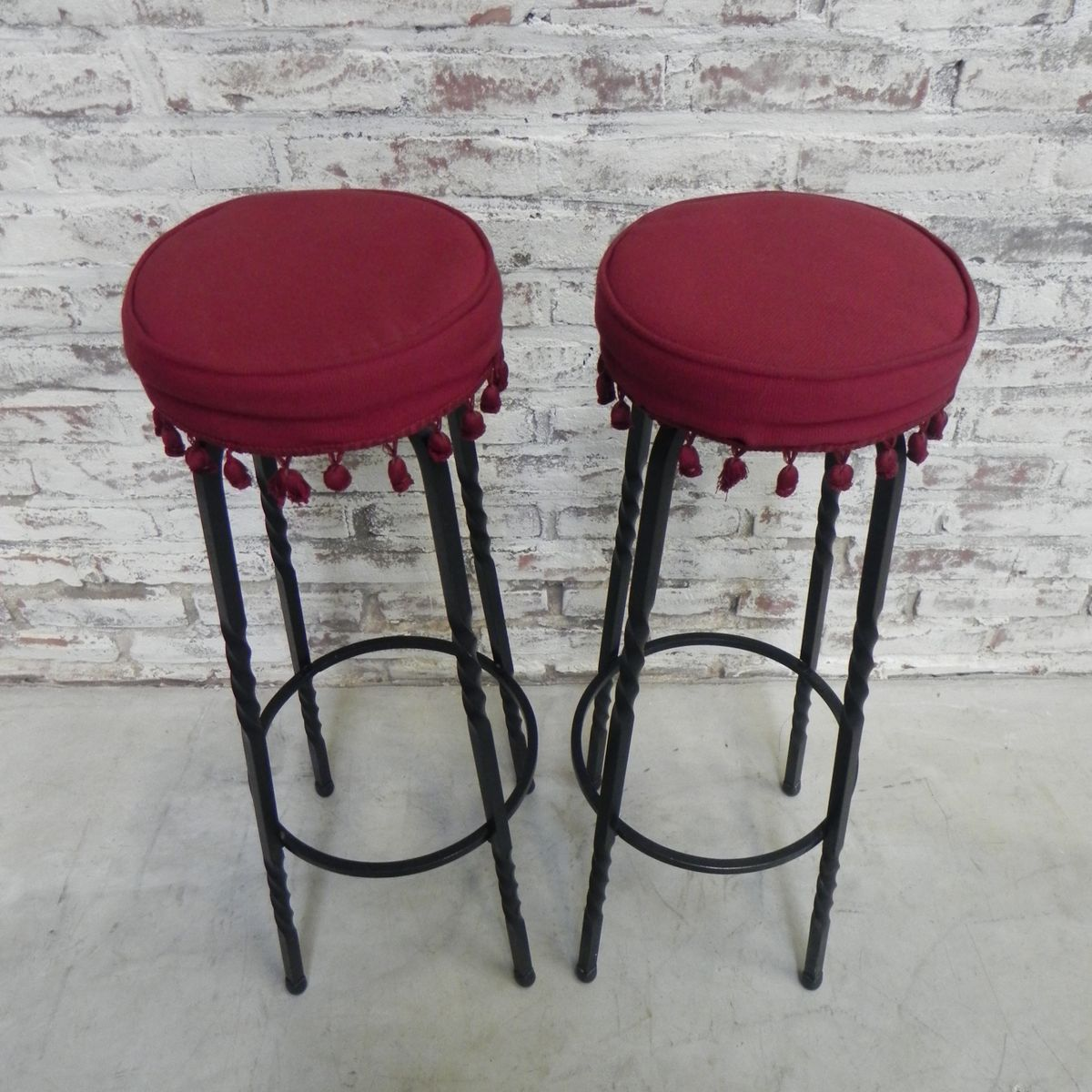 tabourets de bar vintage set de 2 en vente sur pamono. Black Bedroom Furniture Sets. Home Design Ideas