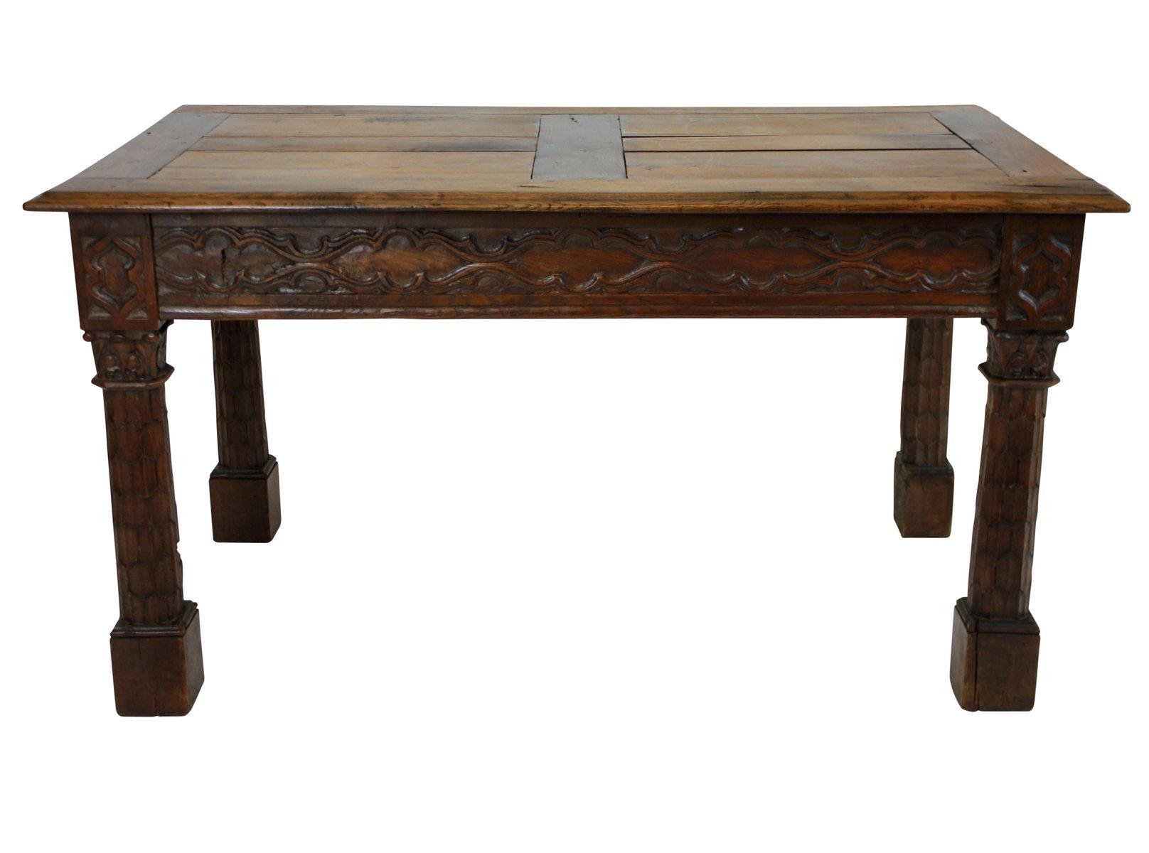 Neogotischer französischer Eiche Tisch, 1820er
