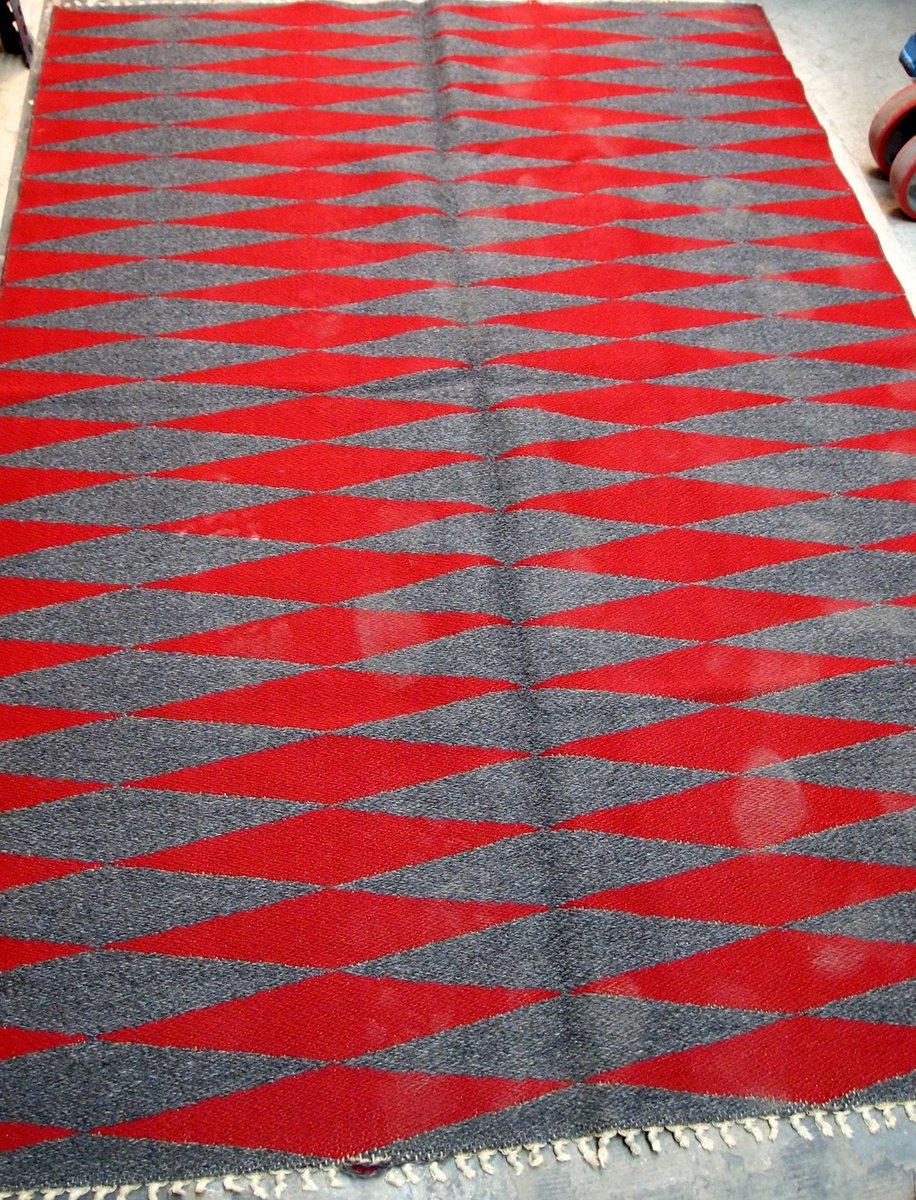 Vintage Handmade Swedish Flat Weave Kilim Rug 1950s For