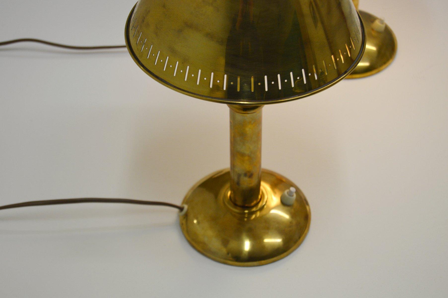 Vintage messing tischlampen mit verstellbaren leuchten von for Tischlampen vintage