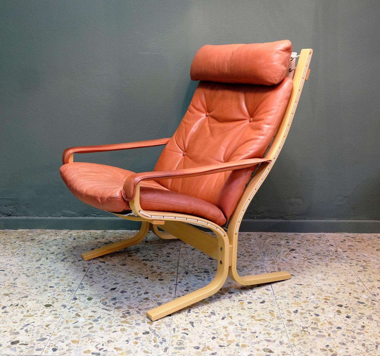 Chaise Longue Siesta En Cuir Par Ingmar Relling Pour Westnofa 1960s