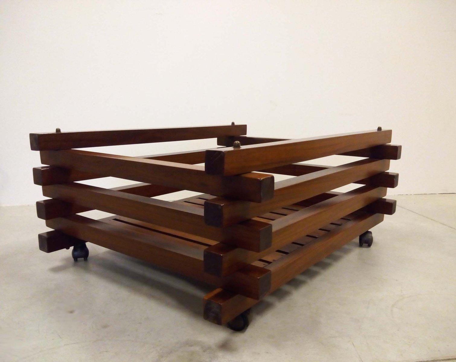 korb aus holz 1970er bei pamono kaufen. Black Bedroom Furniture Sets. Home Design Ideas