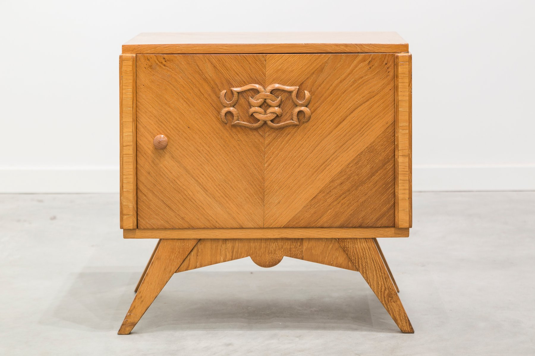 Art Deco French Oak Nightstand 1930s