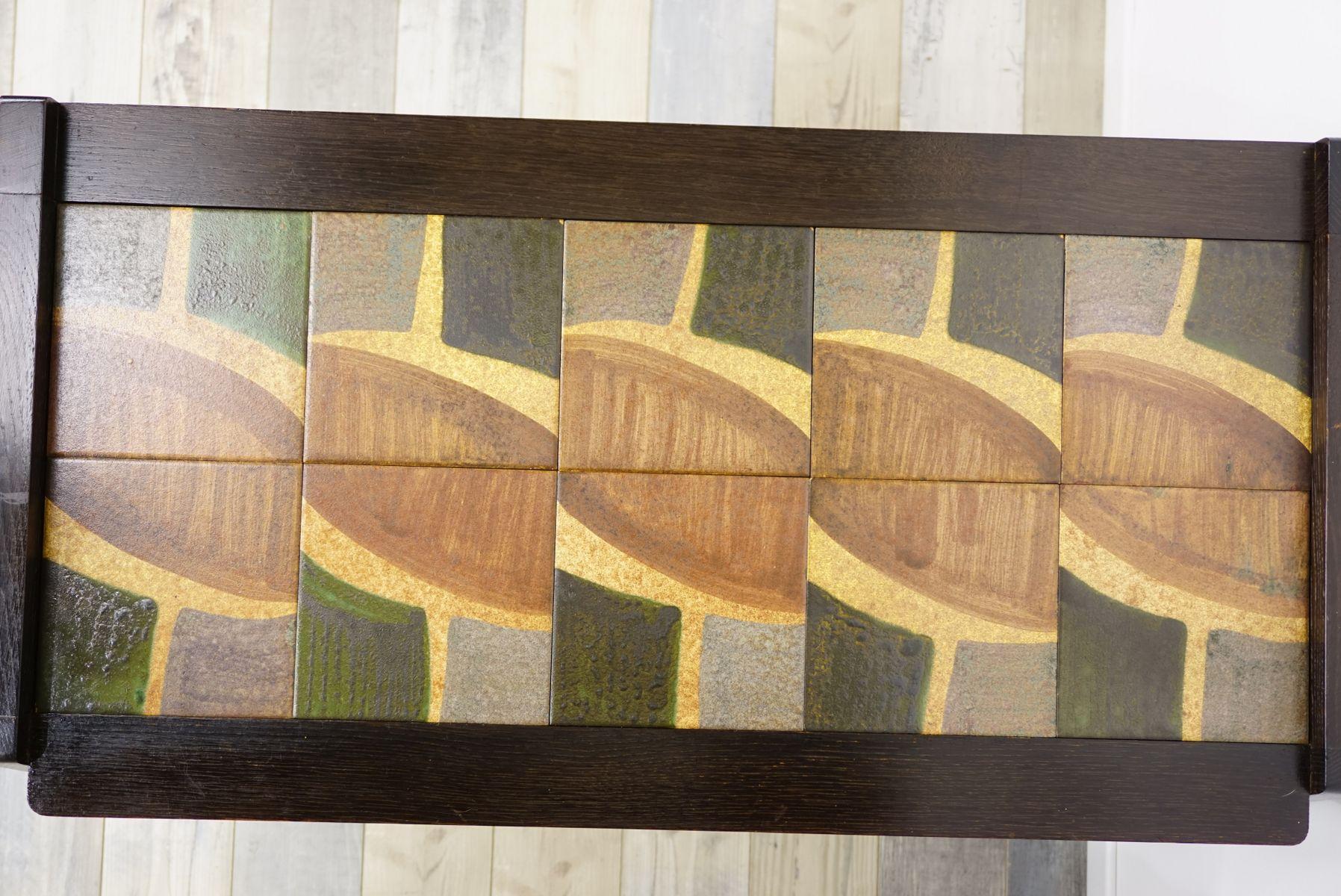eichenholz beistelltisch von guillerme et chambron f r votre maison 1950er bei pamono kaufen. Black Bedroom Furniture Sets. Home Design Ideas