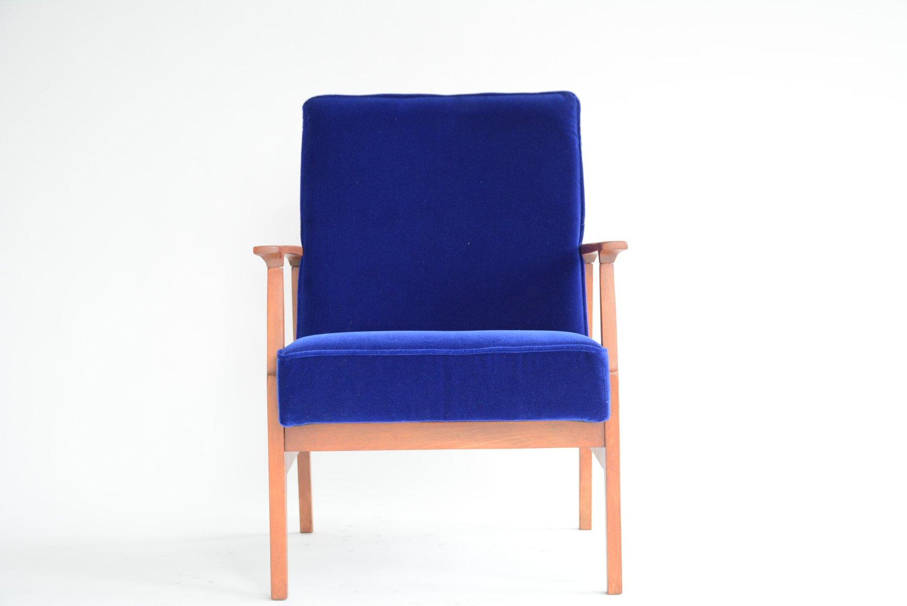Beau Polish Blue Armchair, 1960s
