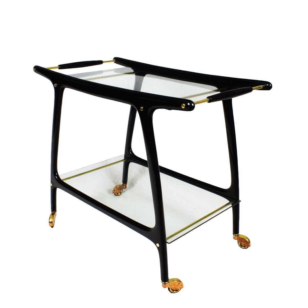 mid century italian bar cart 1950s for sale at pamono. Black Bedroom Furniture Sets. Home Design Ideas