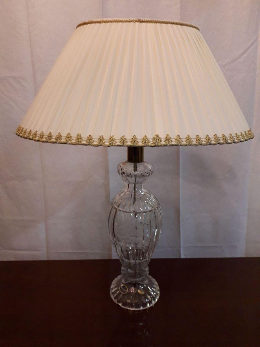 Vintage Tischlampe aus böhmischem Kristallglas, 1980er