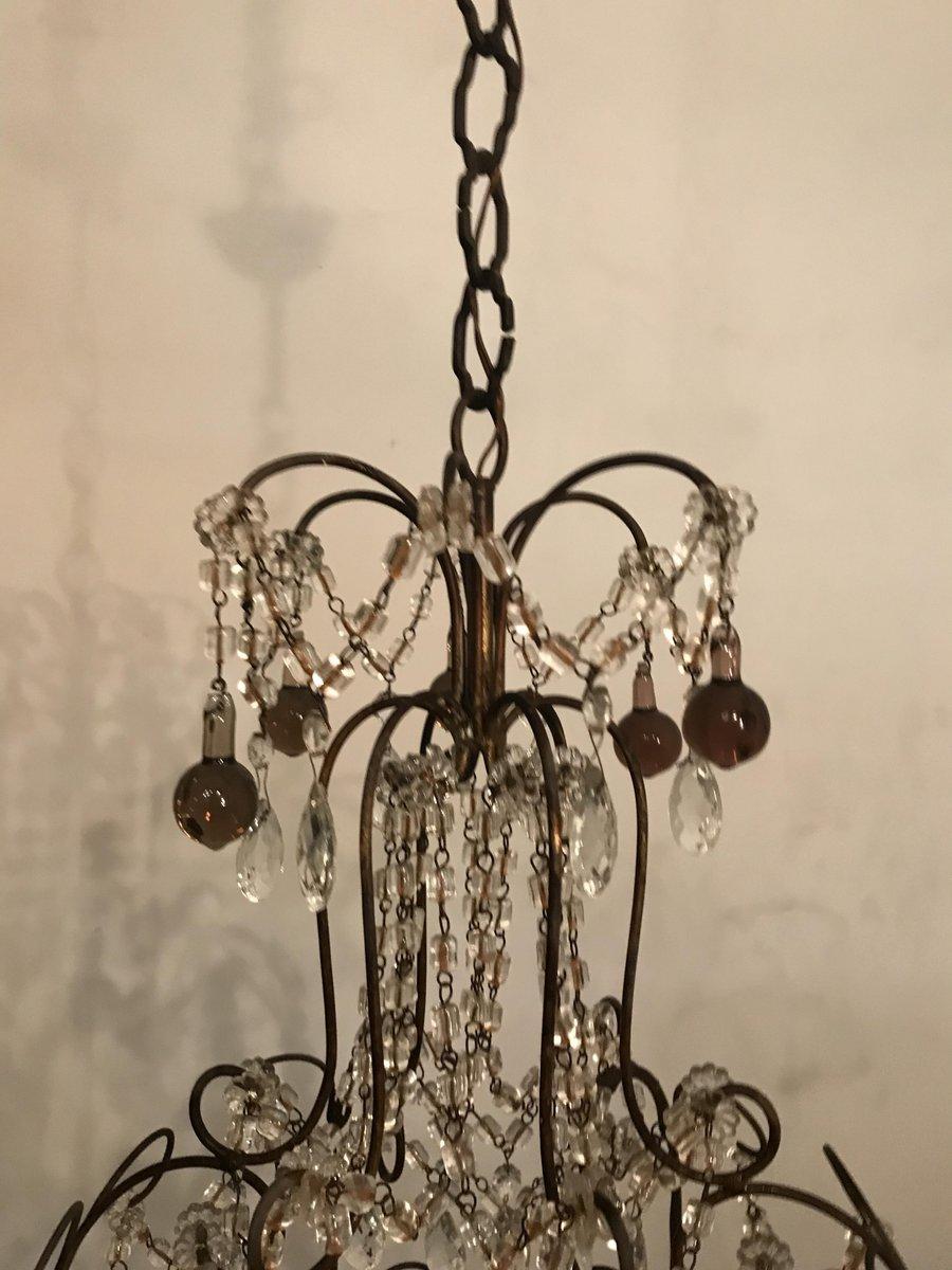 italienischer vintage kristall murano glas kronleuchter bei pamono kaufen. Black Bedroom Furniture Sets. Home Design Ideas