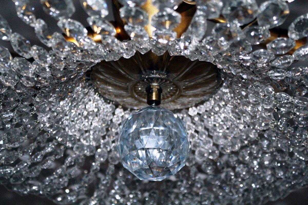 deckenleuchte mit swarovski kristallen 1950er bei pamono kaufen. Black Bedroom Furniture Sets. Home Design Ideas