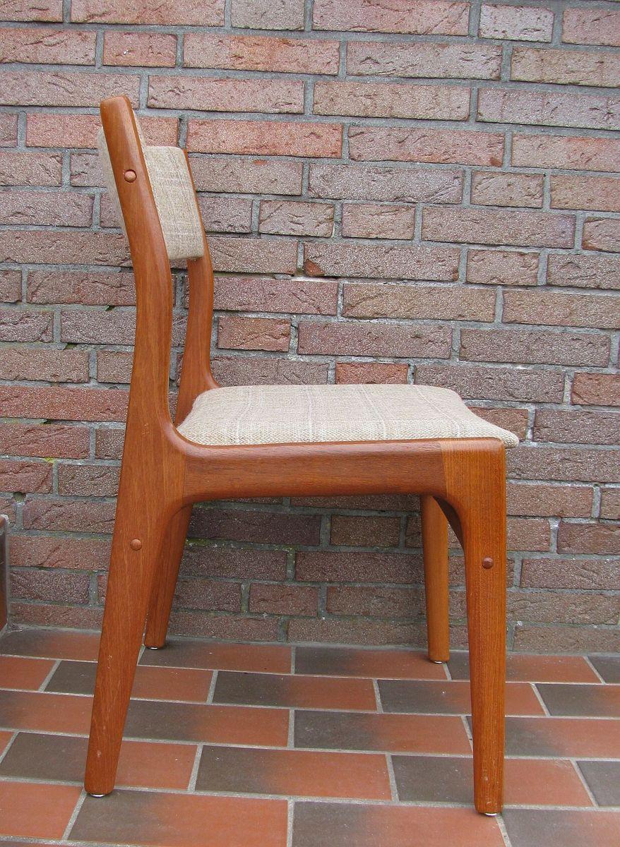 vintage teak st hle 2er set bei pamono kaufen. Black Bedroom Furniture Sets. Home Design Ideas