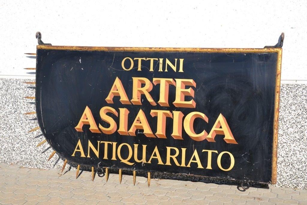 Vintage Italian Antique Shop Sign 8b855143fdc