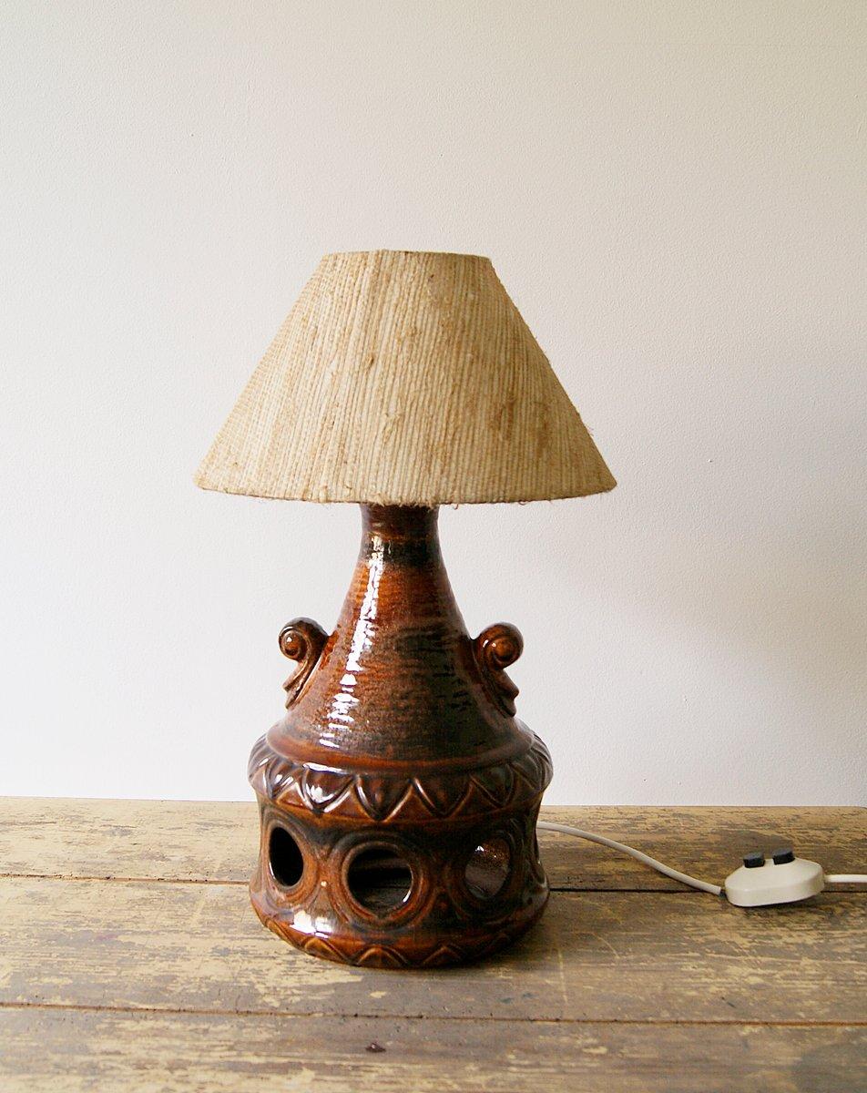 Lampe de bureau en c ramique de eea leuchten 1970s en vente sur pamono - Lampe de bureau style anglais ...