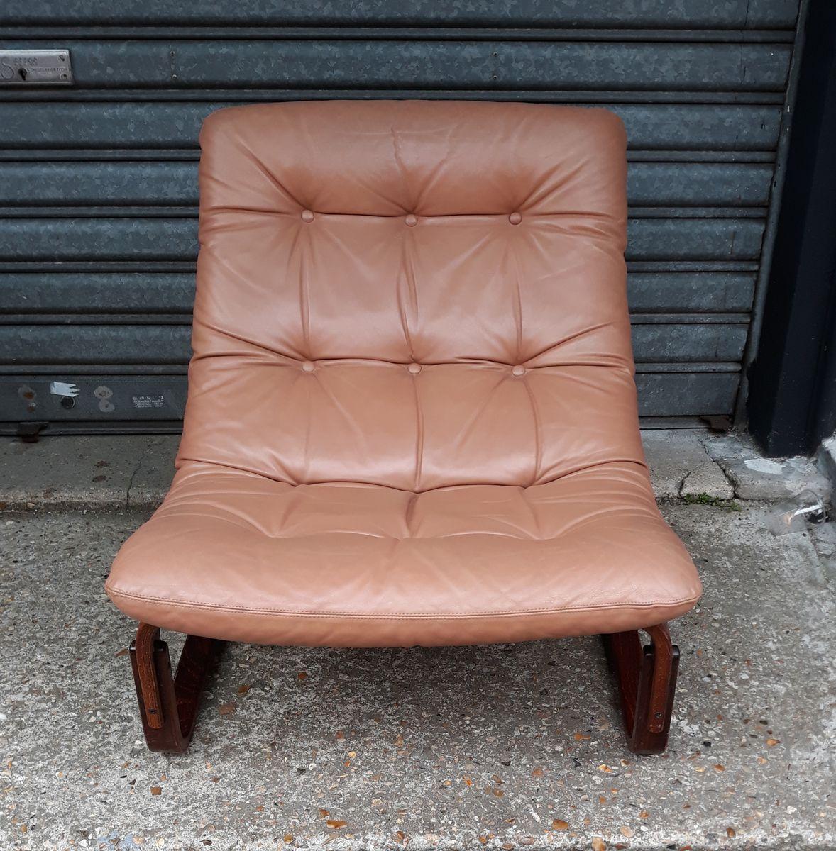 norwegischer leder palisander sessel von ingmar relling f r westnofa 1970er bei pamono kaufen. Black Bedroom Furniture Sets. Home Design Ideas