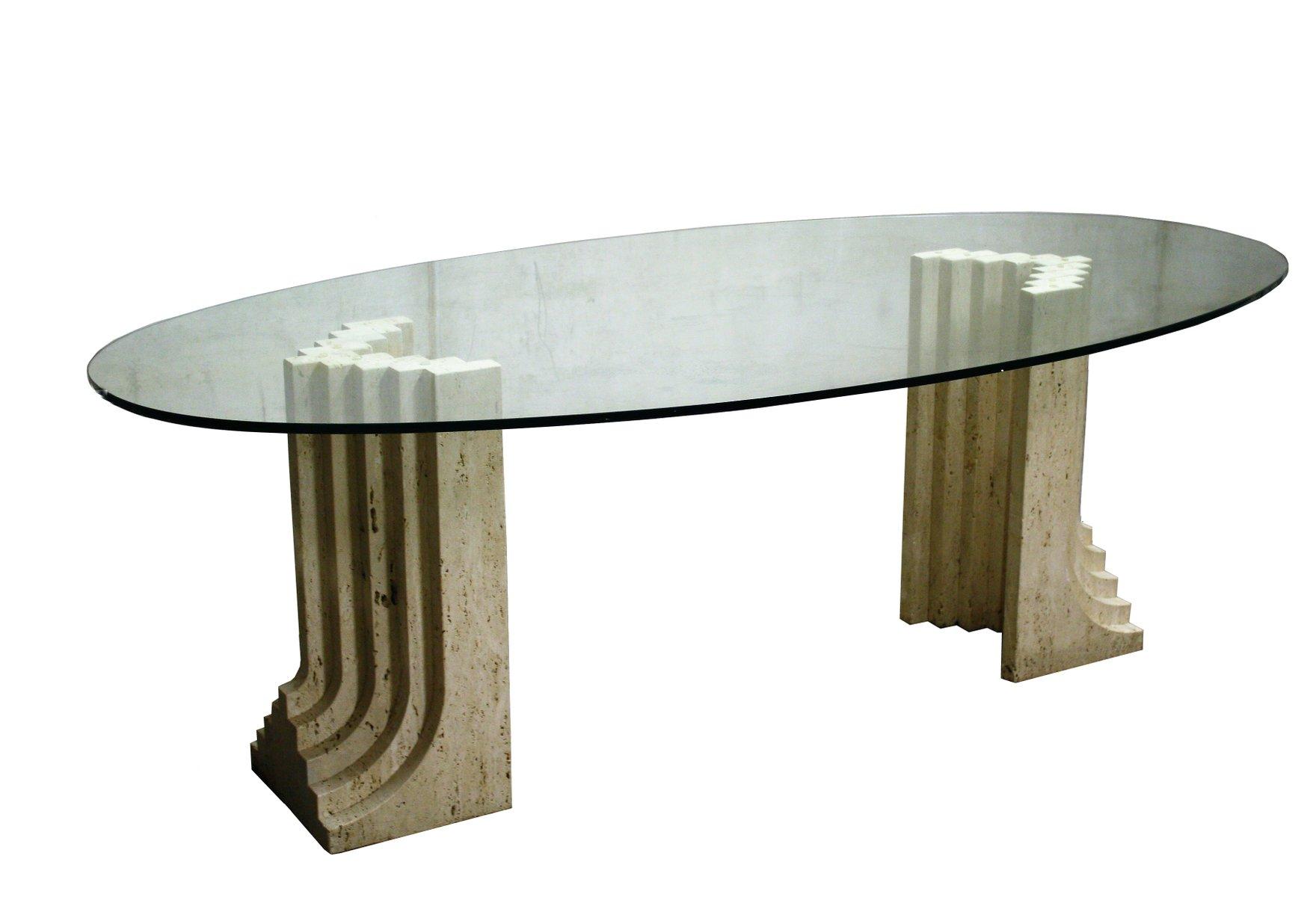 Tavolo da pranzo samo in travertino di studio simon anni - Tavolo da studio ...