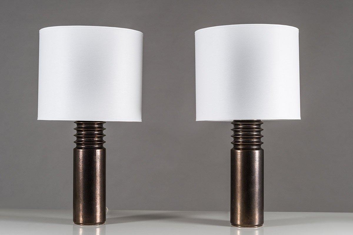 Schwedische Vintage Tischlampen aus Keramik von Luxus, 2er Set