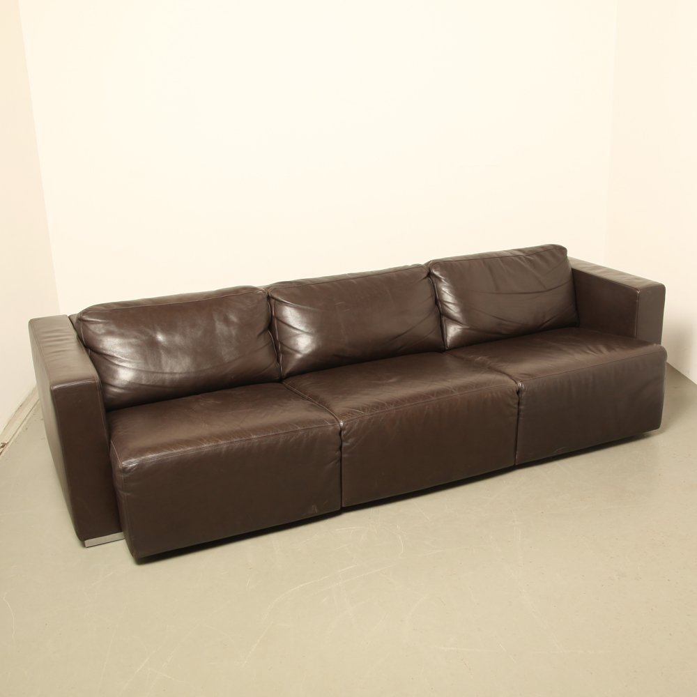 modulares braunes vintage leder sofa von walter knoll bei. Black Bedroom Furniture Sets. Home Design Ideas