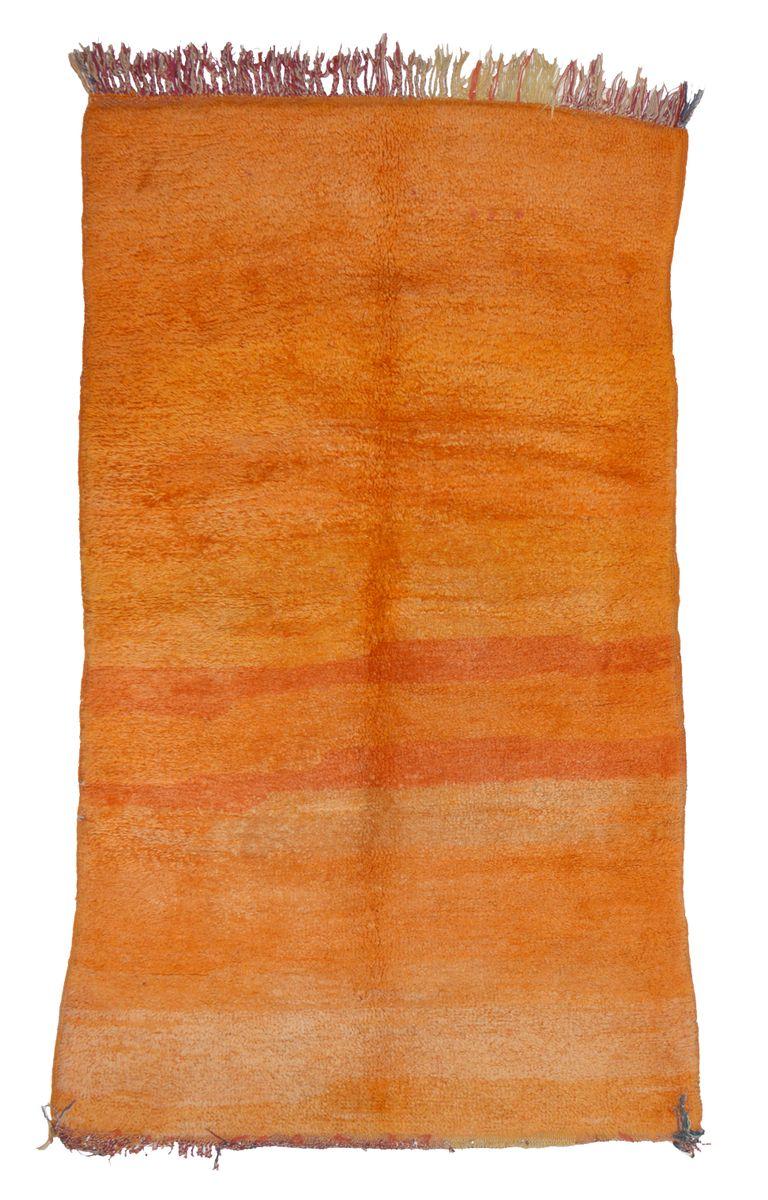 Vintage Beni M'rirt Berber Teppich, 1970er | Heimtextilien > Teppiche > Berberteppiche | Orange | Wolle