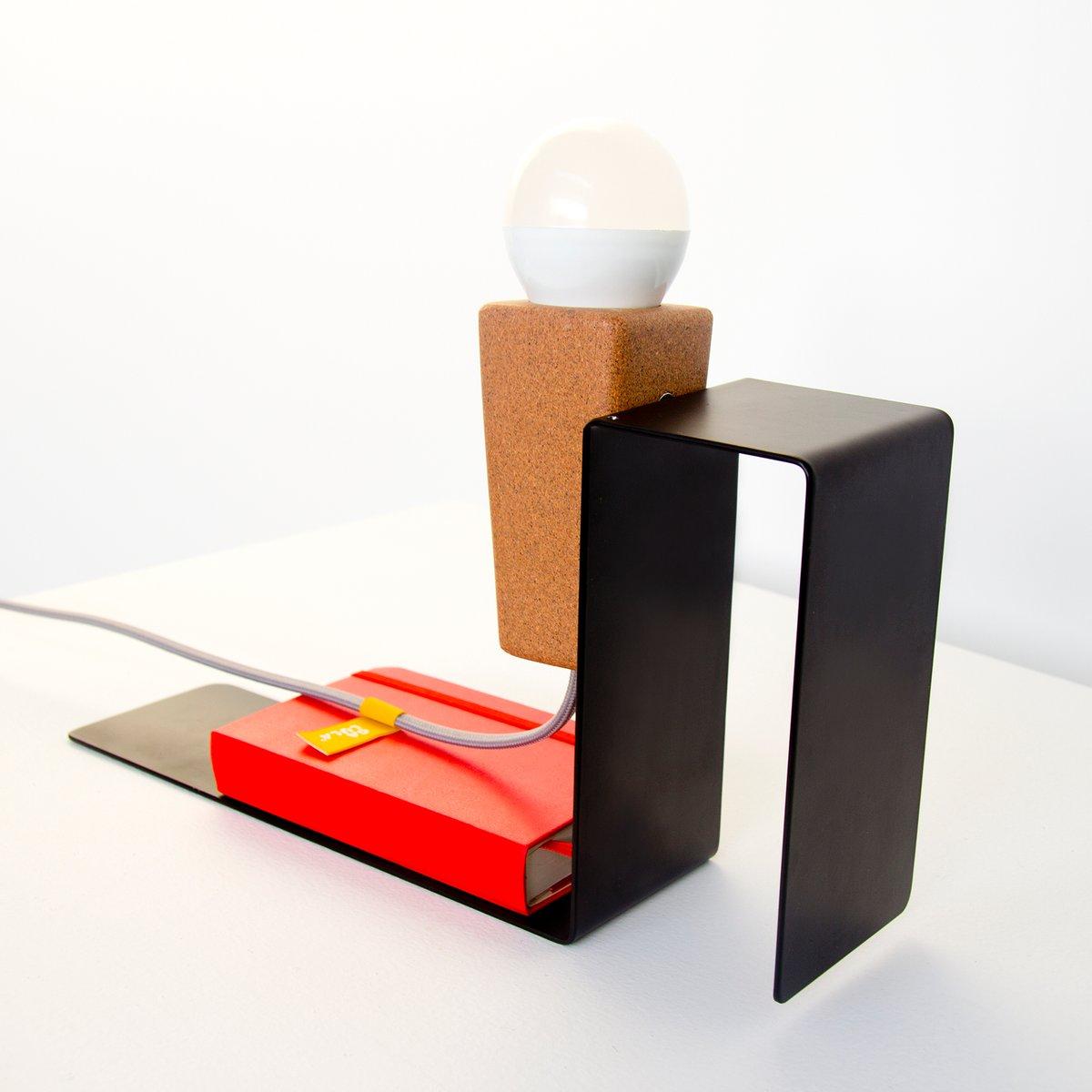 Lampada da tavolo glint 1 con base nera e cavo grigio di mendes macedo per galula in vendita su - Base lampada da tavolo ...