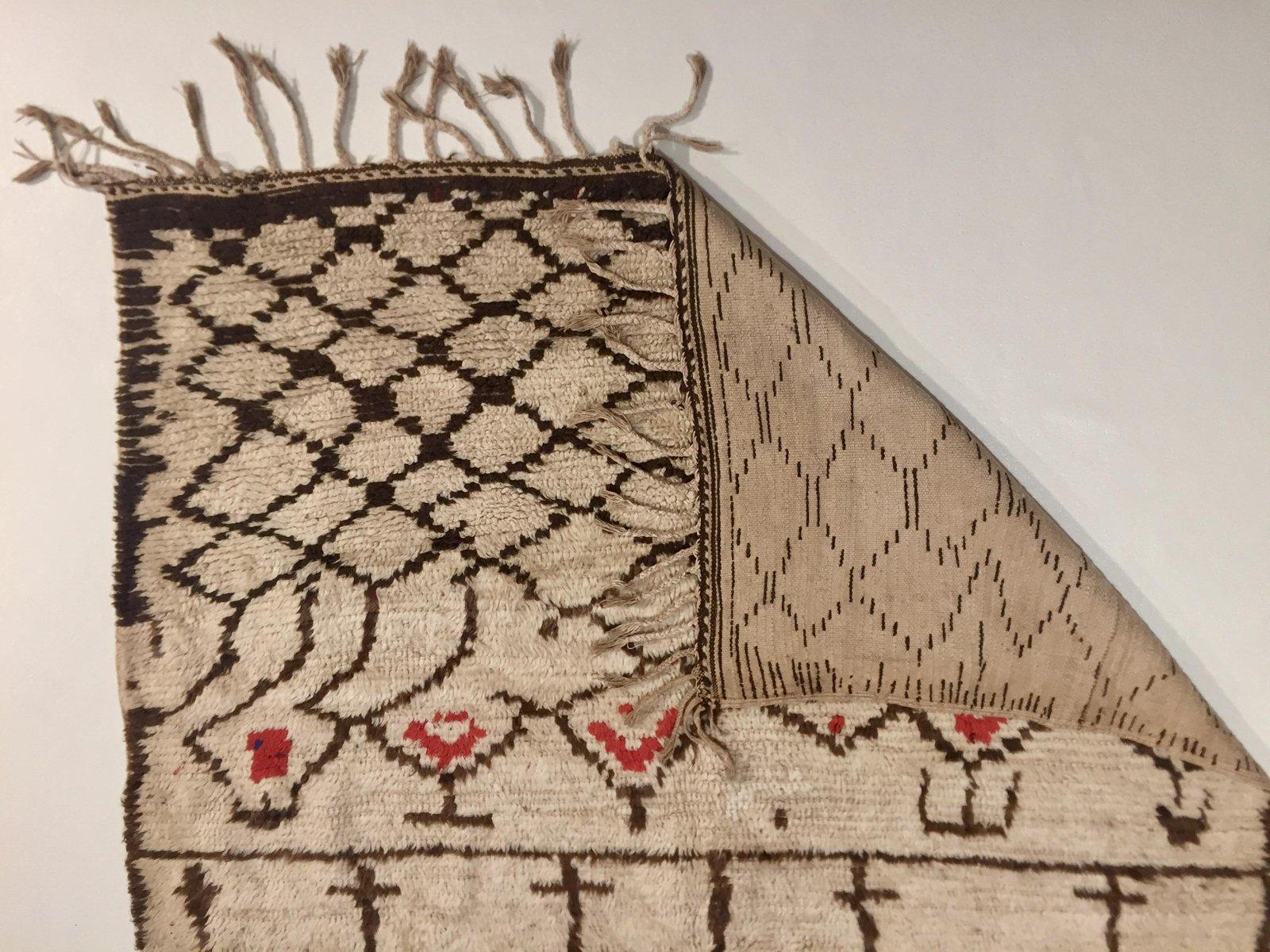 vintage beni ourain berber teppich bei pamono kaufen. Black Bedroom Furniture Sets. Home Design Ideas