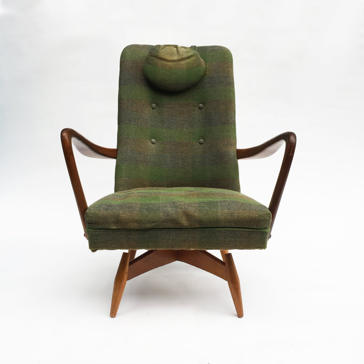 Mid century danish swivel chair 1950s