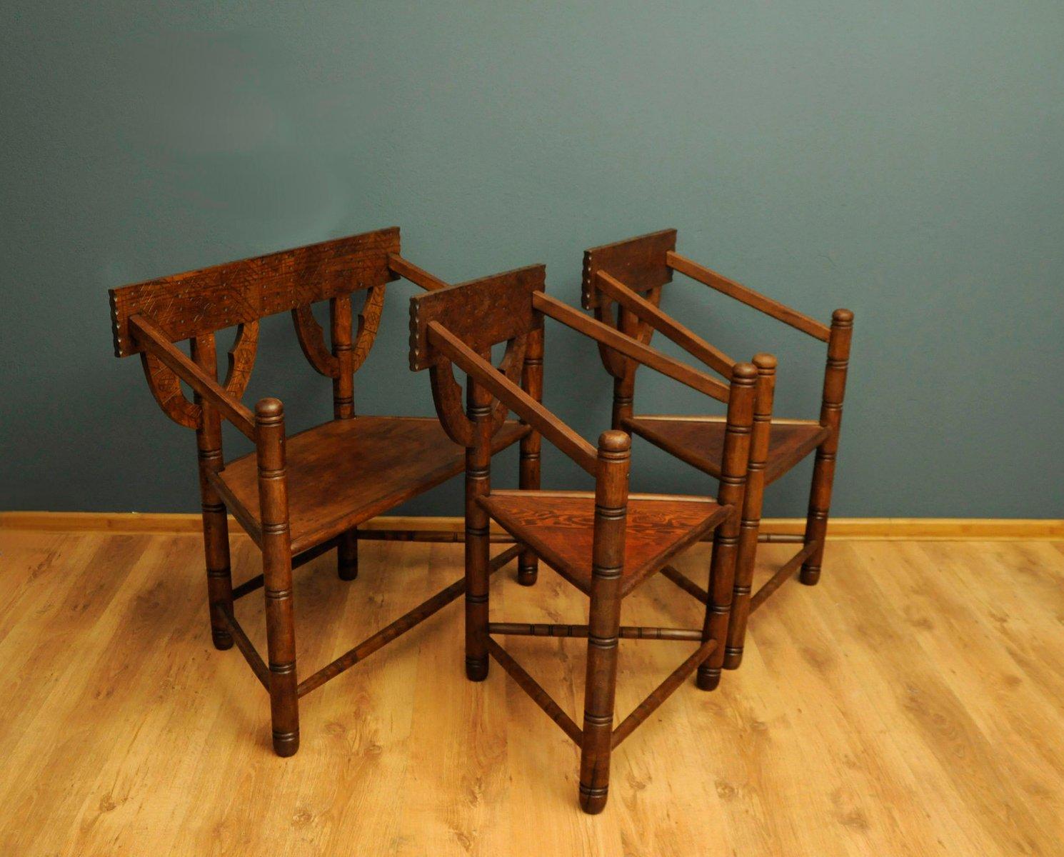 vintage set im arts and crafts stil bei pamono kaufen. Black Bedroom Furniture Sets. Home Design Ideas