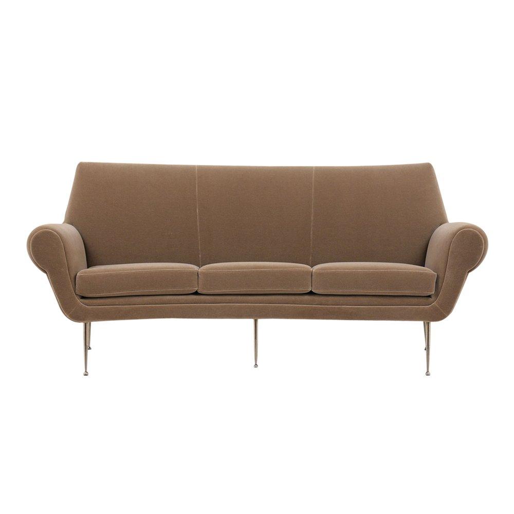 Geschwungenes Italian Modern 3-Sitzer Sofa, 1960er